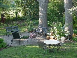 Trädgård uteplats konstruktion
