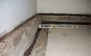 Installing a basement drain system