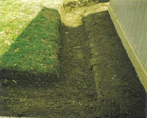 Trough basement system