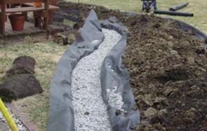 Construção de um dreno francês