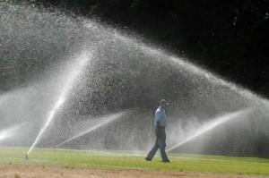 Wieder aufbereitetes wasser bewässerungssystem