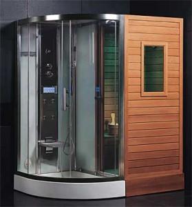 Sauna douche bouwproces