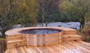Over hot tubs