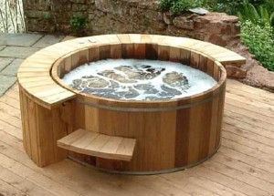 Cedar hot tub building