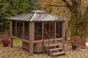 Hot tub gazebo de design