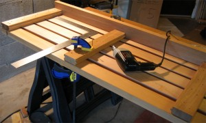 Sauna bench building