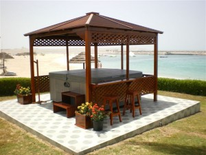 Hot tub gazebo planning