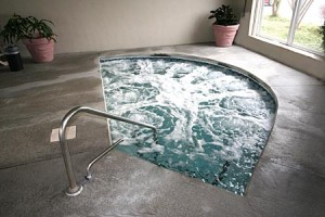 Hot tub und spa-hydrotherapie