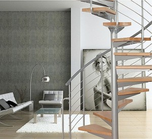 Metal use for spiral staircases