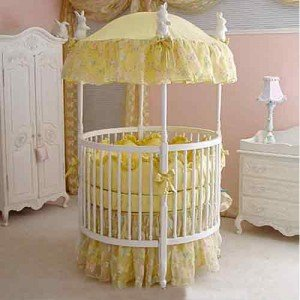 Homemade round baby cribs