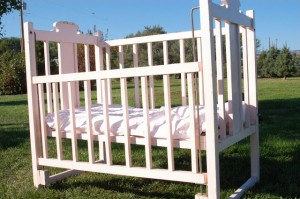 Bringing life to an old baby crib