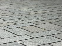 Paving stones installed over a concrete patio
