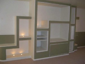 Plans for homemade entertainment center made of drywall
