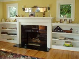 Lag en peis mer praktisk å legge hjemmelagde bokhyller