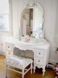Give your vanity a shabby chic look