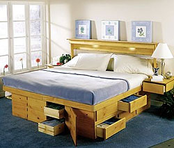 Create additional storage place under the bed