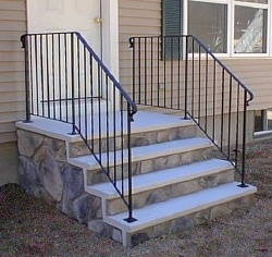 How to build pre-cast concrete steps