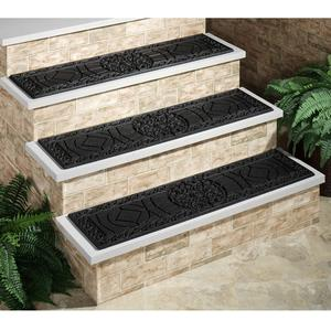 Different types of treads for the outdoor stairs