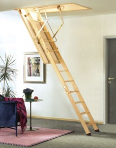 Steps to install attic stairs
