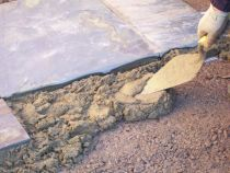 Learn how to pave with mortar