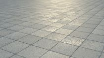 Installation of tiles over the sidewalk - how is made