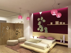 How to decorate a bedroom in Asian style