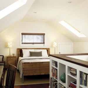 Convert a small attic into an attractive bedroom