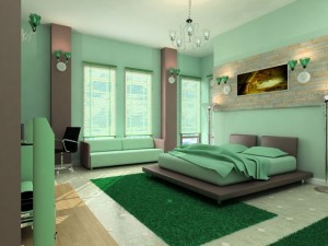 Paint colors for the bedroom's walls