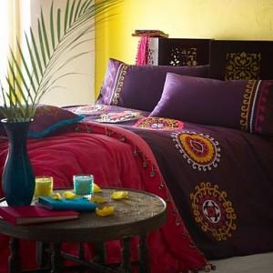 Miten sisustaa makuuhuone boheemi tyyli